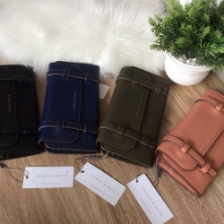 CHARLES & KEITH Strap Detail Long Wallet 2018 free ถุงผ้า