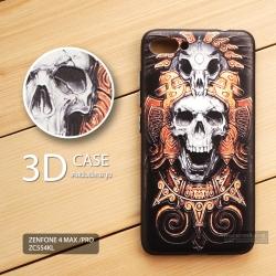 เคส Zenfone 4 Max Pro / Zenfone 4 Max (ZC554KL) เคสนิ่มพิมพ์ลายนูน 3D คุณภาพสูง ลาย Skull