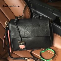 กระเป๋าถือหรือสะพาย Zara Leather City Bag With Interchangeable Handle ราคา 1,490 บาท Free Ems
