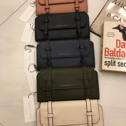 CHARLES & KEITH Two Straps Long Wallet free ถุงผ้า มี 5 สีค่ะ