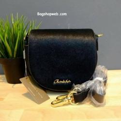 กระเป๋าสะพายข้างมินิ Charles&keith New Collection SADDLE BAG สีดำ