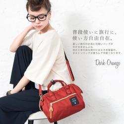 กระเป๋า Anello 2 Way Mini Boston Bag Dark Orange สะพายข้างลำตัว
