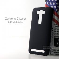 เคส Zenfone 2 Laser 5.0 (ZE500KL) เคสแข็งสีเรียบ (ผิวด้าน) สีดำ