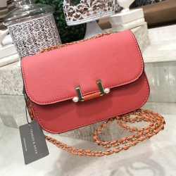 Charles & Keith Pearl Detail Clasp Crossbody
