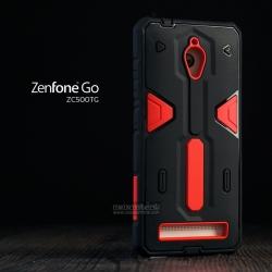 เคส Zenfone GO (ZC500TG) เคส HYBRID BUMPER 2 ชั้น (นิ่ม+แข็ง) พร้อมขอบกันกระแทก สีดำ - สีแดง