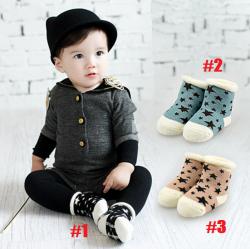 SK084••ถุงเท้าเด็ก•• Star (ข้อสั้น-เลยตาตุ่ม)