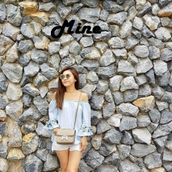 Mine Halo Genuine Leather Cross Body Bag 2018 free ถุงผ้า