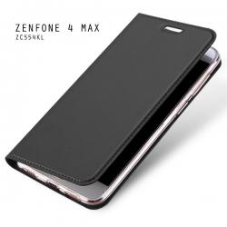 เคส Zenfone 4 Max / Zenfone 4 Max Pro (ZC554KL) เคสฝาพับเกรดพรีเมี่ยม (เย็บขอบ) พับเป็นขาตั้งได้ สีเทา (Dux Ducis)