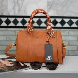 กระเป๋า KEEP sheep leather Pillow bag Classic Brown ราคา 1,490 บาท Free Ems
