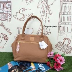 กระเป่า Anello PU Leather boston bag C.Beige Color ราคา 1,490 บาท Free Ems