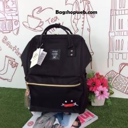 """กระเป๋าเป้ Anello """"UP SMILE x anello """" Special collaboration! รุ่น Limited สีดำ 1,390 บาท- 31/01/60 เท่านั้น"""