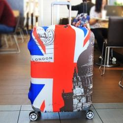 (พิมพ์ลาย ขนาด XL) ผ้าคลุมกระเป๋าเดินทาง ขนาด 29 - 32 นิ้ว มี 10 ลาย 10 แบบให้เลือก