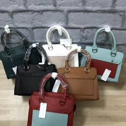 CHARLES & KEITH STRUCTURED TOP HANDLE BAG หนังคาร์เวีย