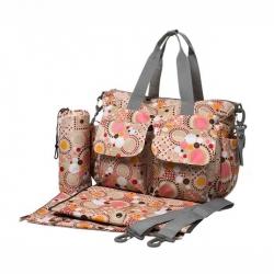 Ecosusi กระเป๋าสัมภาระคุณแม่ กระเป๋าใส่ผ้าอ้อม แขวนรถเข็นเด็กได้ หิ้ว หรือสะพายไหล่ได้ (Pink)