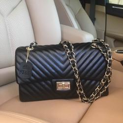 KEEP shoulder chevron chain handbag