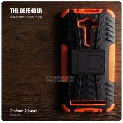 เคส Zenfone 2 Laser (5.5 นิ้ว) กรอบบั๊มเปอร์ กันกระแทก Defender สีส้ม (เป็นขาตั้งได้)