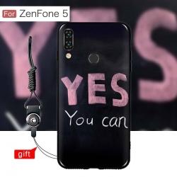 เคส Zenfone 5 (ZE620KL) เคสนิ่ม TPU พิมพ์ลาย (ขอบดำ + พร้อมสายคล้องมือถือ) แบบที่ 8 Yes You can