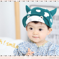 HT320••หมวกเด็ก•• / หมวกแก็ป-ลายวัว (สีเขียว)