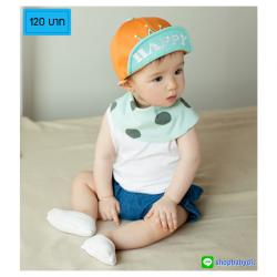 HT397••หมวกเด็ก•• / หมวกแก็ป Happy (สีส้ม)