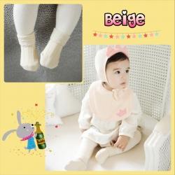 SK073••ถุงเท้าเด็ก•• สีเบจ (ข้อสั้น-เลยตาตุ่ม)
