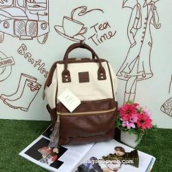 กระเป๋าเป้ Anello Polyurethane Leather Rucksack รุ่น Mini Two-Tone ใหม่ล่าสุด!!!