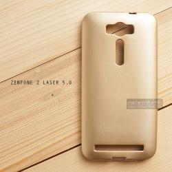 """เคส Zenfone 2 Laser 5.0"""" (ZE500KL) เคสนิ่มผิวเงา (MY COLORS) สีทอง"""