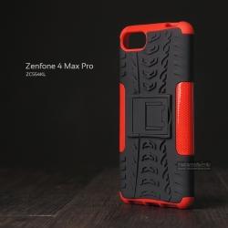 เคส Zenfone 4 Max Pro ( ZC554KL ) กรอบบั๊มเปอร์ กันกระแทก Defender สีแดง (เป็นขาตั้งได้)