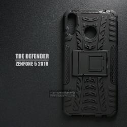 เคส Zenfone 5 ( ZE620KL ) กรอบบั๊มเปอร์ กันกระแทก Defender สีดำ (เป็นขาตั้งได้)
