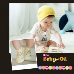 SK004••ถุงเท้าเด็ก•• ใบไม้