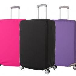 (สีพื้นเรียบ ขนาด L) ผ้าคลุมกระเป๋าเดินทาง ขนาด 26 - 28 นิ้ว มี 3 สีให้เลือก (ดำ ชมพู ม่วง)