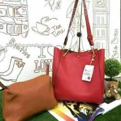 กระเป๋า ZARA SHOPPER BAG with Handel Bag กระเป๋าสะพายหนังเรียบสวยรุ่นนี้แนะนำสุดๆ เพราะ Buy1Get1
