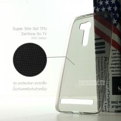 """เคส Zenfone GO 5.5"""" (ZB551KL เท่านั้น) เคสนิ่ม Super Slim TPU บางพิเศษ พร้อมจุด Pixel ขนาดเล็กด้านในเคสป้องกันเคสติดกับตัวเครื่อง (ดำใส) (DTAC Edition)"""