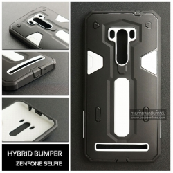 เคส ZenFone Selfie (ZD551KL) เคส HYBRID BUMPER 2 ชั้น (นิ่ม+แข็ง) พร้อมขอบกันกระแทก สีดำ - สีขาว