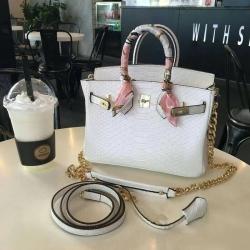 Genuine Leather Crocodile Birkin Luxury Handbags 2017