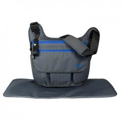 Ecosusi กระเป๋าสัมภาระคุณแม่ ทรงกระเป๋าแมสเซนเจอร์ เดินทางสะดวก แขวนรถเข็นได้ คุณภาพสูง (สีเทาเข้ม)