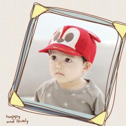 HT376••หมวกเด็ก•• / หมวกแก็ปมิกกี้ (สีแดง)