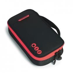 กระเป๋าใส่อุปกรณ์อิเล็กทรอนิกส์ สำหรับใส่อุปกรณ์ไอทีทุกชนิด มีสองชั้น ช่องเยอะพิเศษ มีหูหิ้วพกพาสะดวก (ดำ-แดง)