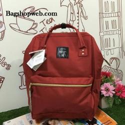 กระเป๋าเป้ ANELLO POLYESTER CANVAS RUCKSACK สี Dark Orange รุ่นคลาสสิค