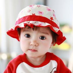 HT479••หมวกเด็ก•• / หมวกปีกกว้าง-กระต่าย (สีแดง)