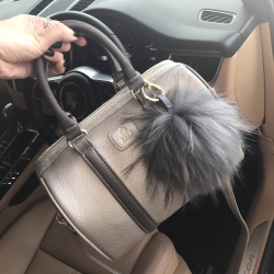 KEEP Grey two tone leather mini Pillow bag #สินค้าแท้จากshop