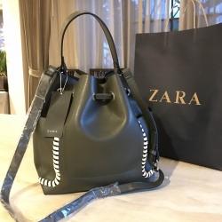 กระเป๋า ZARA Contrasting Details Bucket Bag 2017