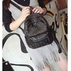 กระเป๋าเป้ แฟชั่น MCM Style หนังชามัวร์ นิ่ม อยู่ทรงแข็งแรง สามารถใส่ Notebook ได้ 1090 ส่งฟรี ems