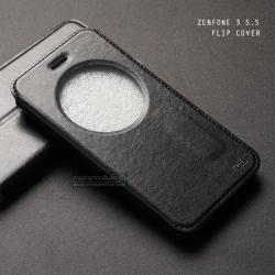 เคส Zenfone 3 ZE552KL (5.5 นิ้ว) เคสฝาพับหนัง PU แบบพิเศษ FULL FUNCTION ช่องกว้างพิเศษ รองรับการทำงานได้สมบูรณ์แบบ ดำ