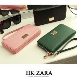 Zara Long Wallet Bestseller New With Box สายคล้องมือ พู่ห้อยและซองผ้า