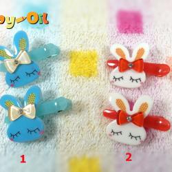 HP015••กิ๊บติดผมเด็ก•• / กระต่าย-1 (มี 2 สี)