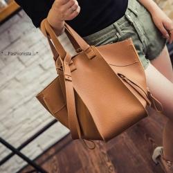 กระเป๋าถือสะพายหนังนิ่ม ใบใหญ่ มาพร้อมใบเล็กและมีสายสะพายยาว สไตล์ NEW HM BASIC SURVIVAL BAGS สาว fashionista ห้ามพลาดเลยคร้า ราคา 990 ส่งฟรี ems