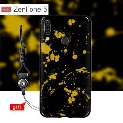 เคส Zenfone 5 (ZE620KL) เคสนิ่ม TPU พิมพ์ลาย (ขอบดำ + พร้อมสายคล้องมือถือ) แบบที่ 4