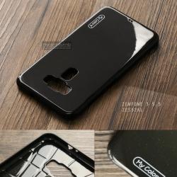 เคส Zenfone 3 (ZE552KL) 5.5 นิ้ว เคสนิ่มผิวเงา (MY COLORS) สีดำ (ลายกากเพชร)