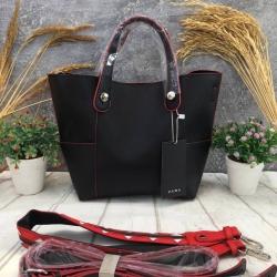 กระเป๋าสะพาย ZARA Mini Tote With Contrasting Handle สีดำ ราคา 1,290 บาท Free Ems