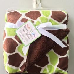 BK055••ผ้าห่มเด็ก•• / ตารางเขียว-น้ำตาล